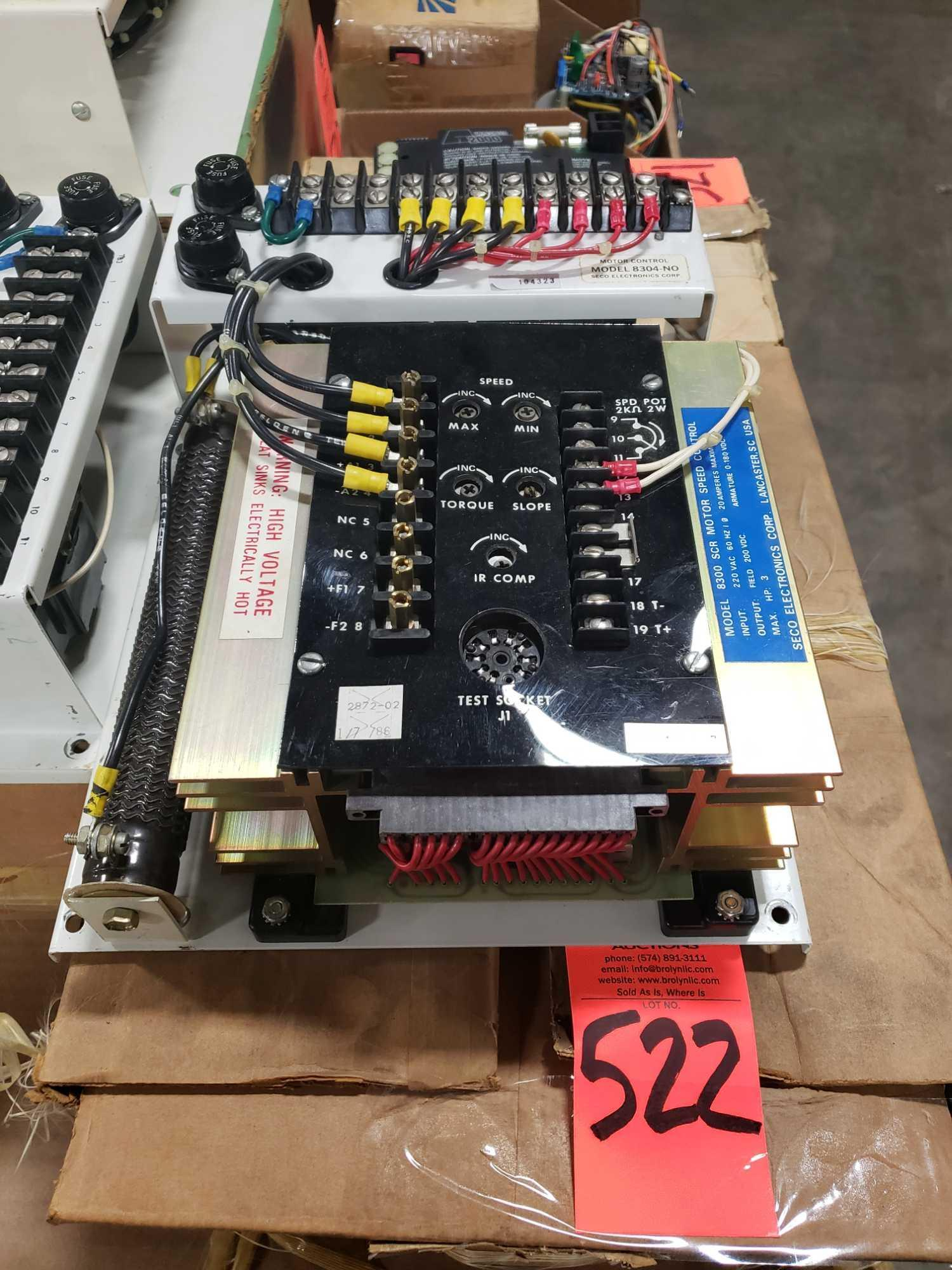 Seco Electronics model 8300 SCR motor control part 8304-N0.. New in box.