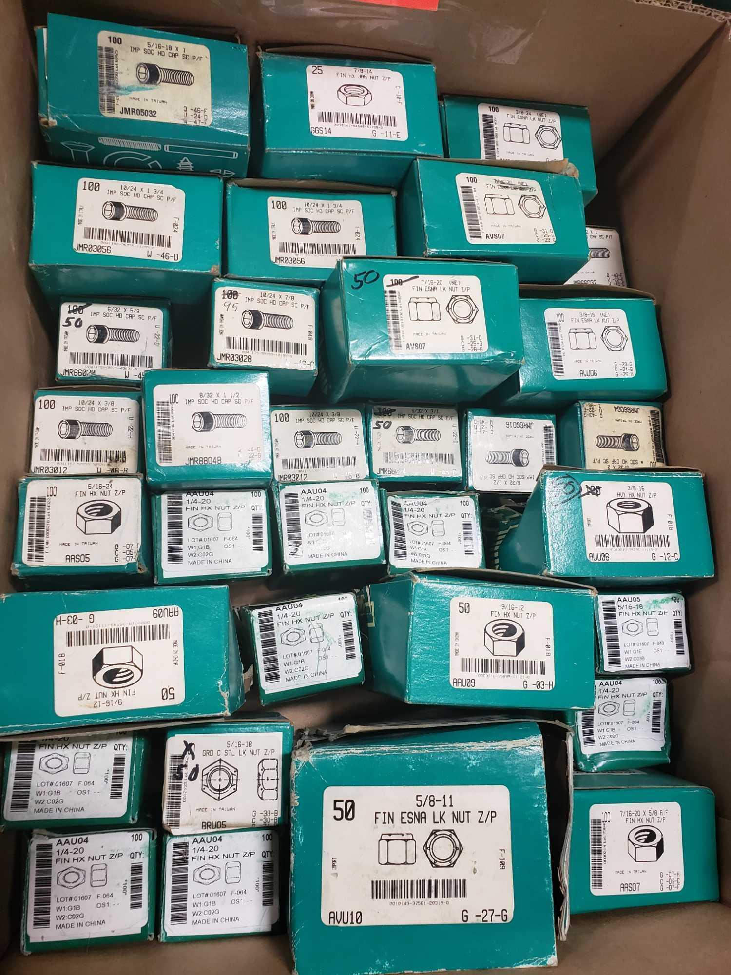 Qty 33 - Assorted boxes of new hardware, high grade, nuts, bolts, washers, etc. New in box. - Image 2 of 2