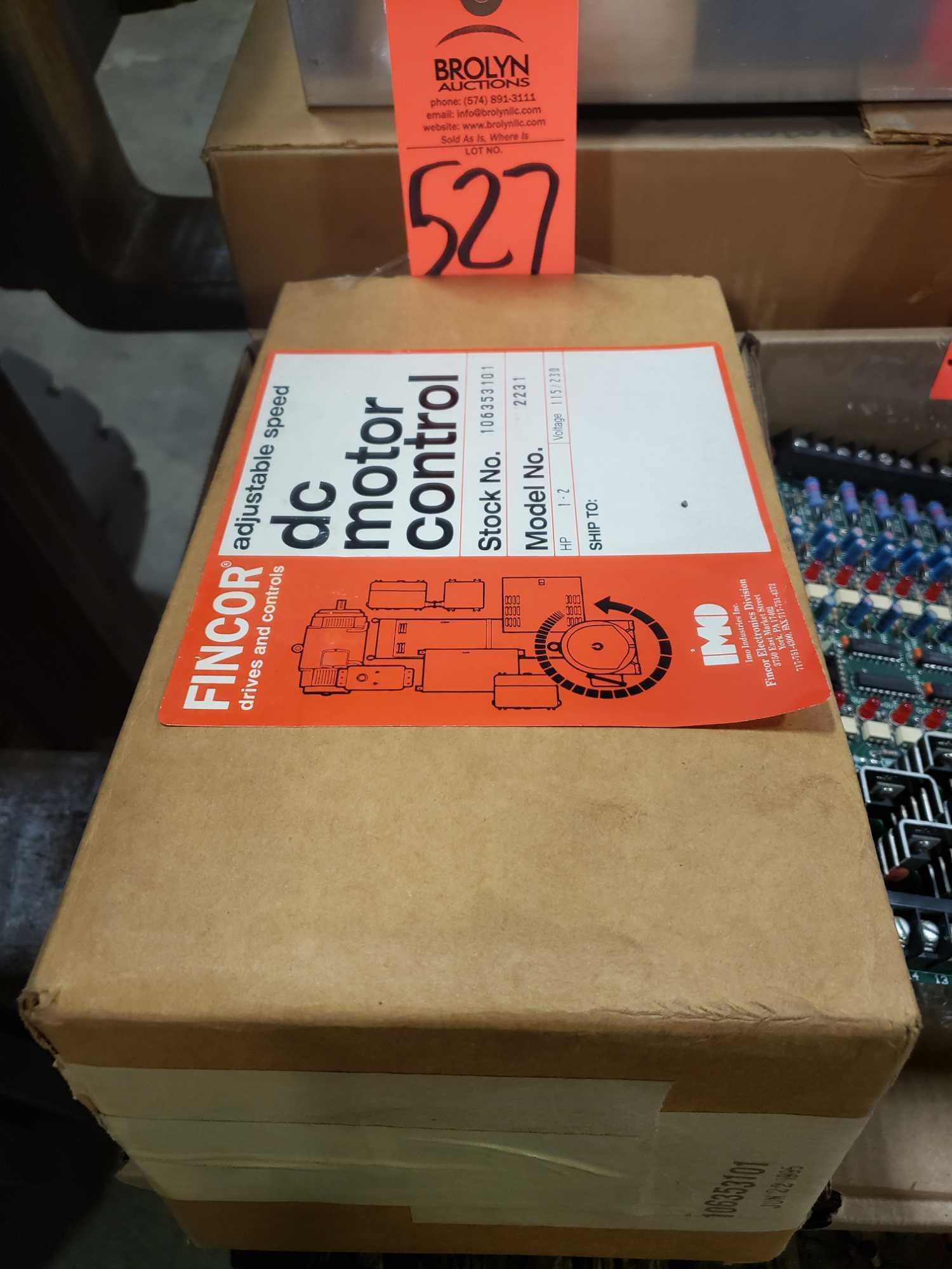 Fincor Drives adjustable speed control DC motor control model 2231. New in box.