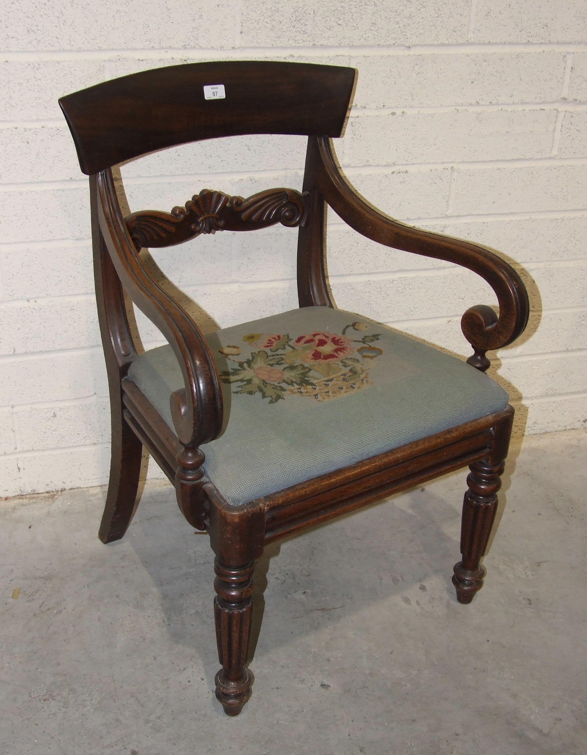 Lot 57 - A set of six Victorian mahogany balloon-back dining chairs, each with leather upholstered serpentine