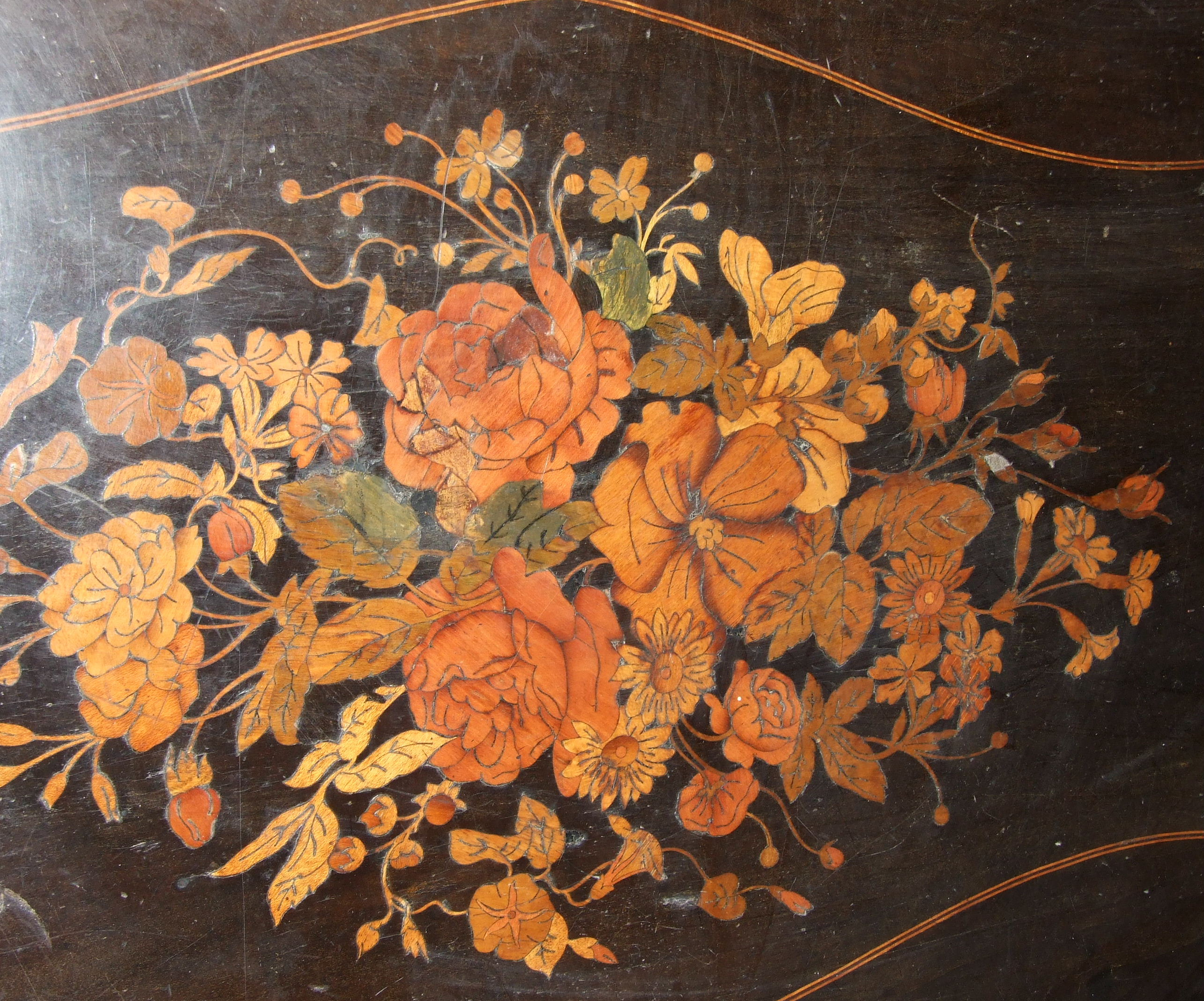 Lot 87 - A good quality 19th century French kingwood and ebony marquetry centre table.