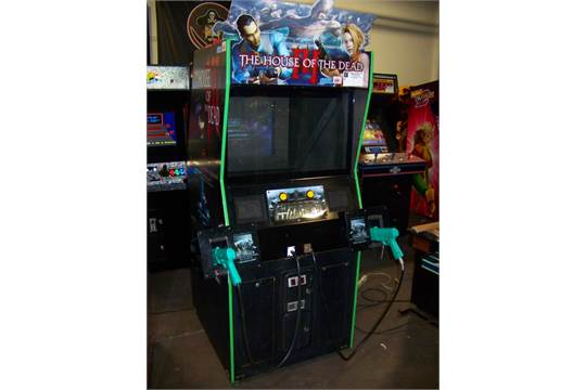 The House Of The Dead Iii Zombie Arcade Game Sega Item Is In Used