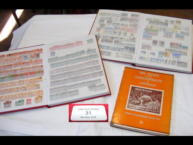 Lot 31 - A stamp album relating to Australia, together with