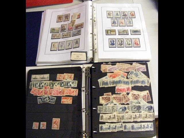 Lot 50 - An album containing collectable stamps from France