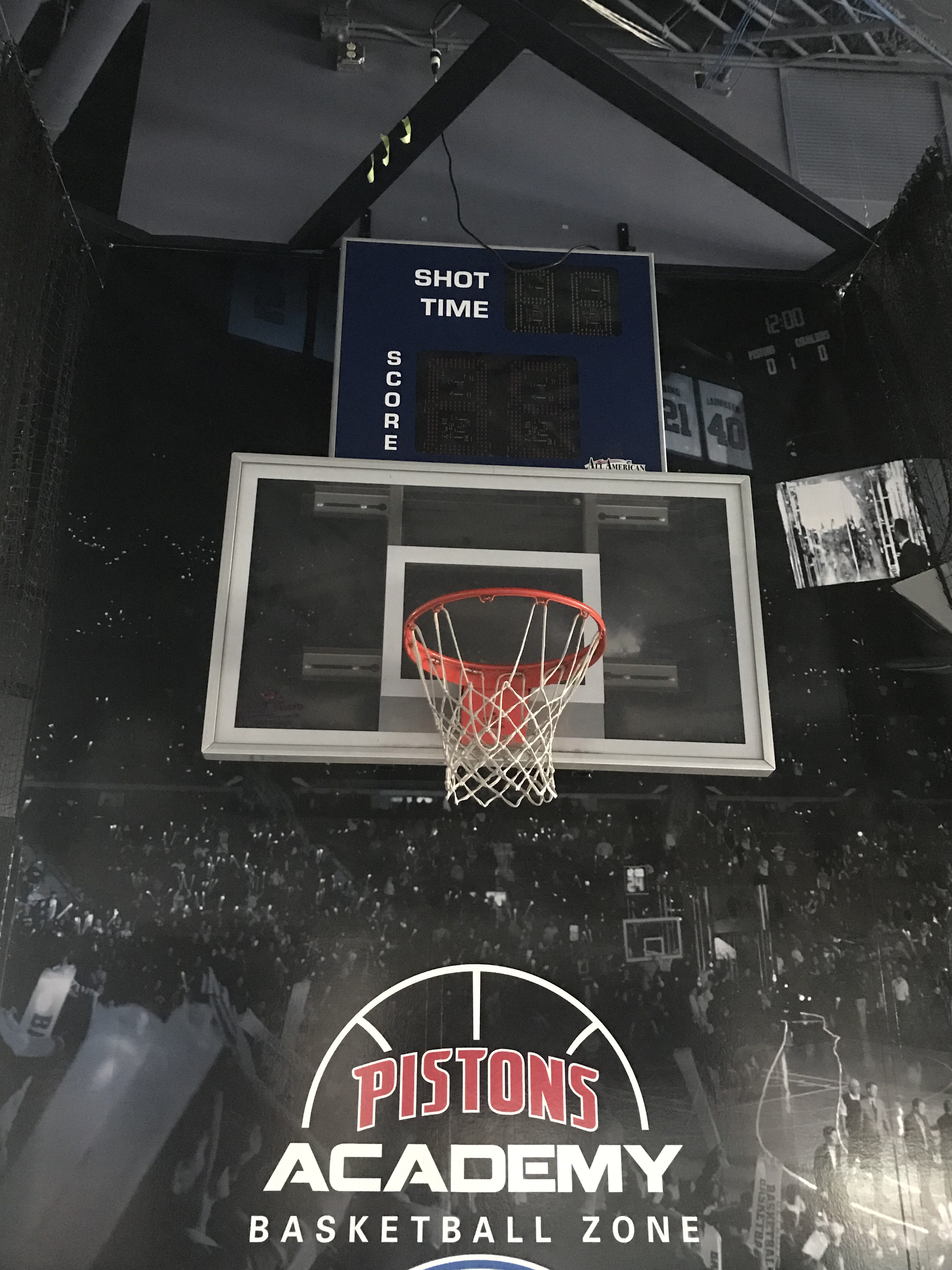 Backboard, Hoop & Shot Clock from Kids Shooting Area in Concourse , Dim. , Location: Concourse *** - Image 2 of 2