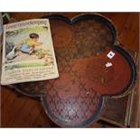 A 1937 Good Housekeeping Magazine and a shaped lacquer tray