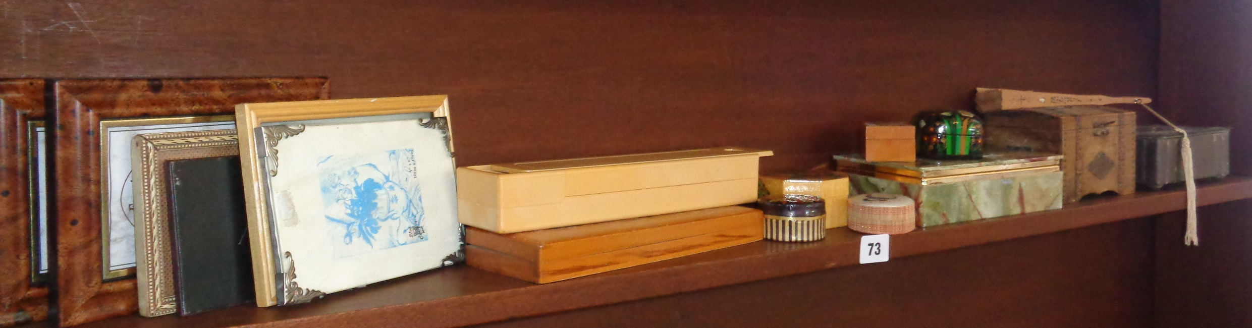 Assorted cigarette boxes and pencil cases etc