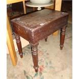 19th c. mahogany bidet coffee table