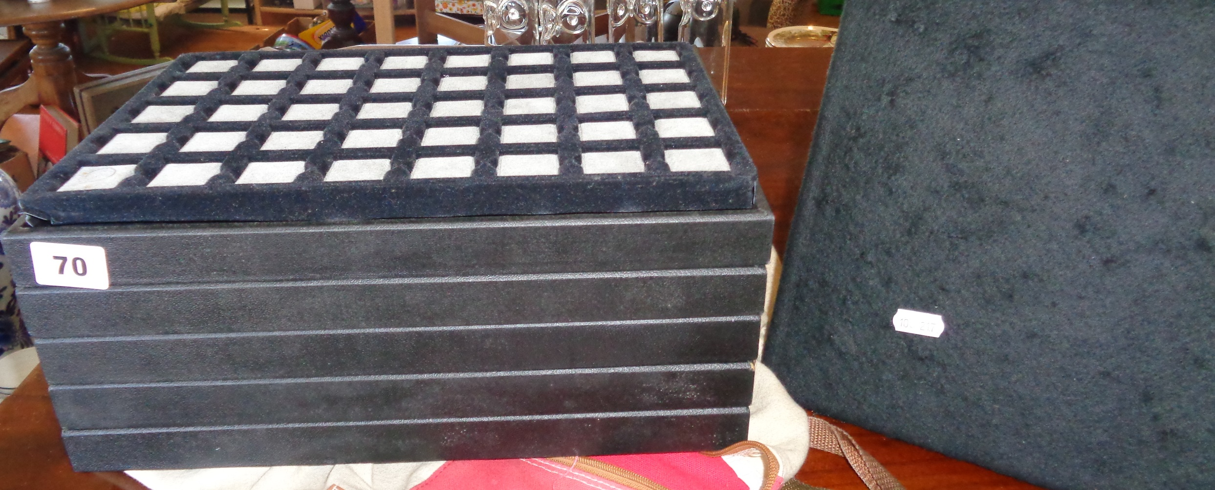 Five jewellery trays