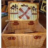 Basket picnic hamper
