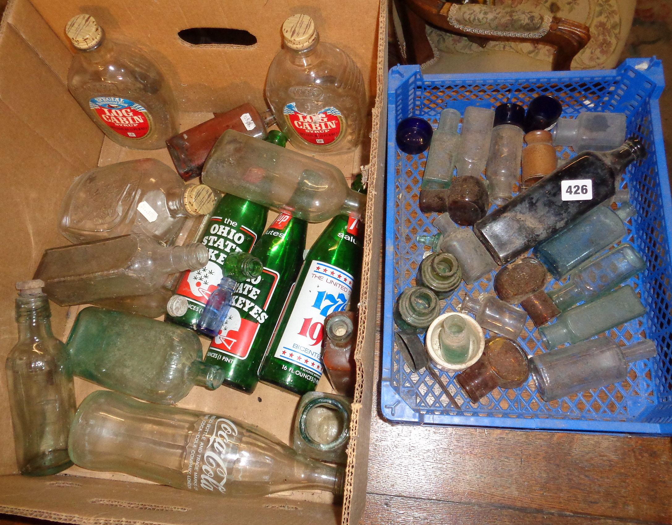 Lot 426 - Collection of assorted old bottles