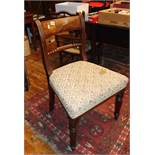 19th century mahogany dining chair on fluted legs with rope-twist back rail