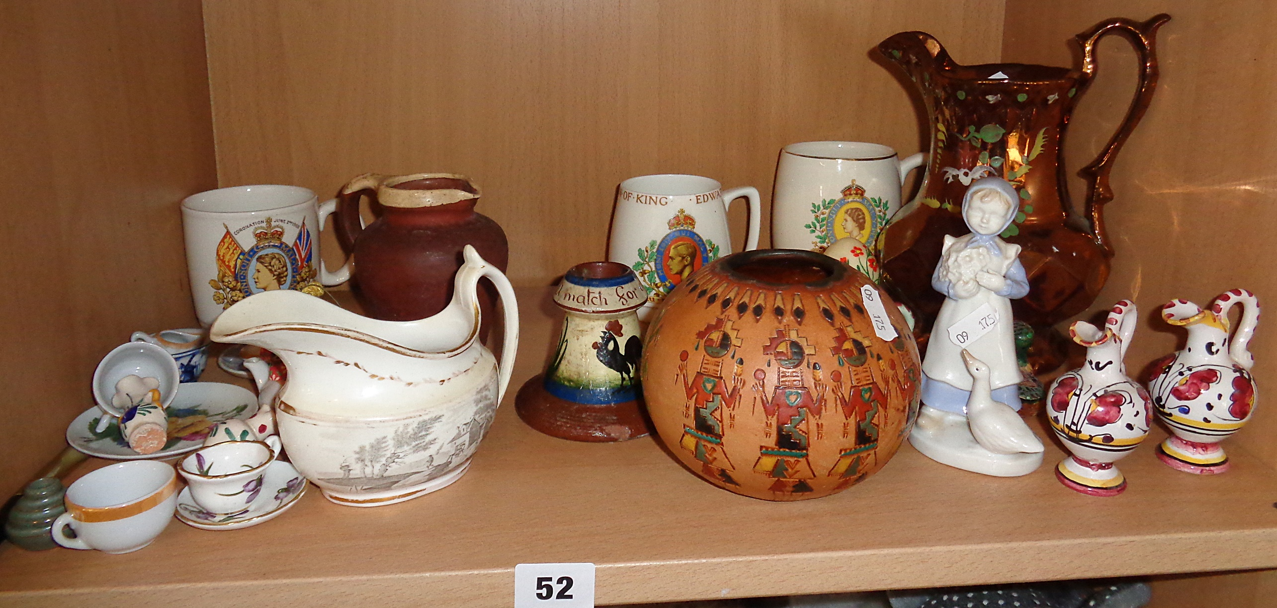 Lot 52 - Victorian lustre and other china and pottery etc