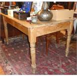 "Victorian farmhouse pine kitchen table, approx 50"" x 36"" x 29"" high"