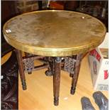 Brass topped folding table