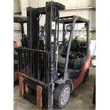 """#5 toyota model 8fgcu25 4500# l/p powered fork lift truck s/n 72122, side shifter, 60"""" forks,"""