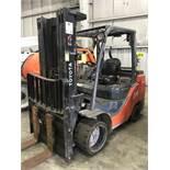 """#4 toyota model 8fgcu45u 9150# l/p powered fork lift truck s/n 11657, side shifter, 96"""" forks,"""