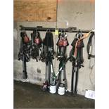 lot of safety harnesses