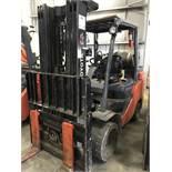 """j&F toyota model 8fgc45 9150# l/p powered fork lift rtuck s/n 12695, side shifter, 60"""" forks,"""
