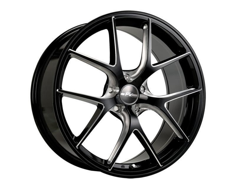 Lot 1006 - [4] NEW FK Ethos RT-57 Gloss Black Ball Cut Machined 20x8.5 Offset: +40 Color: BCM
