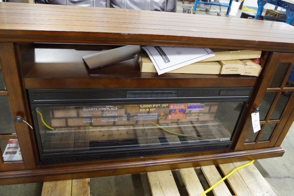 "Lot 1008 - TRESANTI 74"" Fireplace Console / TV Stand (Appears NEW)"