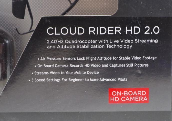 Lot 1060 - PROPEL Cloud Rider HD 2.4 Ghz Quadcopter w/ Live Video Streaming & Altitude Stabilization Technology