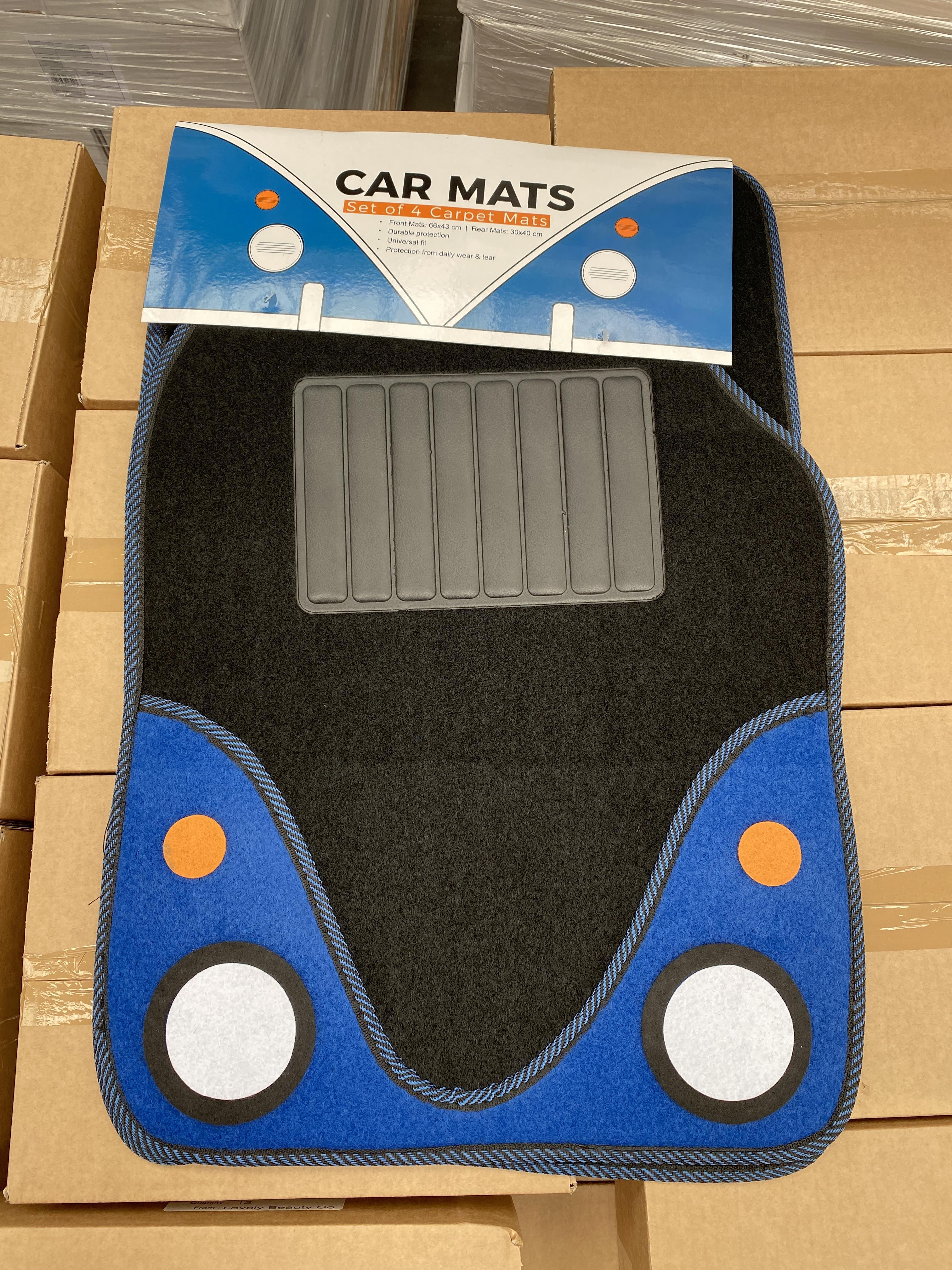 30 x HALFORDS set of 4 car carpet mats. Full RRP £300 plus
