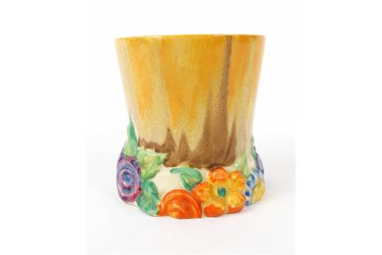 Clarice Cliff 39 My Garden 39 Vase Hand Painted With Flowers