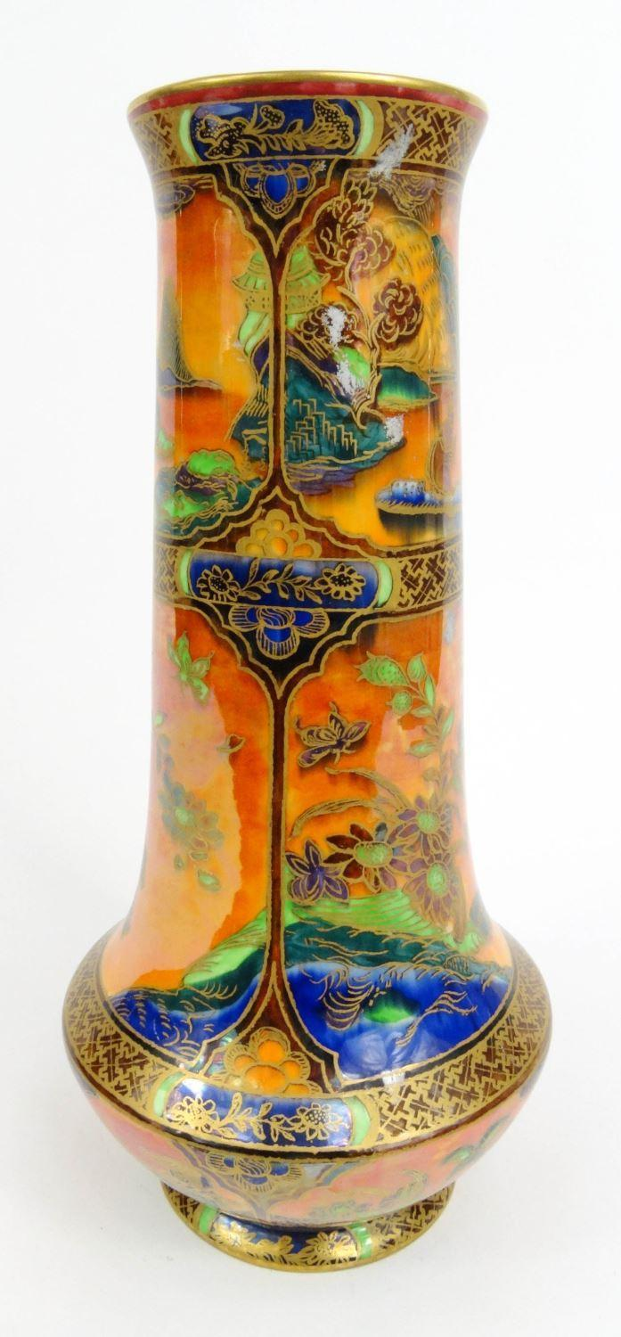 wedgwood fairyland lustre pottery vase decorated with oriental design wedgwood made in england. Black Bedroom Furniture Sets. Home Design Ideas