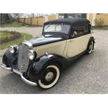 Mercedes Benz Type 170 VW 136 series, Cabriolet 2-door, four-cylinder, 1,697 cc Year of construction