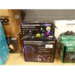 4 boxes of colour changing LED indoor/outdoor lights
