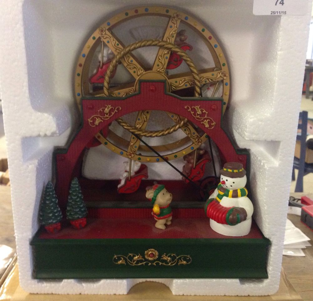 lot 74 a boxed avon musical ferris wheel christmas decoration - Christmas Ferris Wheel Decoration
