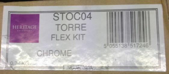 Lot 643 - 1 x Heritage STOC04 Torre Flex Kit Chrome Shower Riser, Hose & Shower Head - Polished CHrome