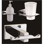 Lot 642 - 1 x Vogue Series 6 Bathroom Accessory Set in Chrome - New Boxed Stock - Includes 3 Piece Set