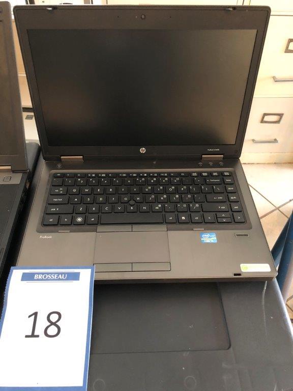 Lot 18 - Ordinateur portable HP PROBOOK 6460b Inter Core I5