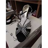 Unze by Shalamar Shoes Ladies Black & Embellished Shoes size 7 new & boxed see image for design