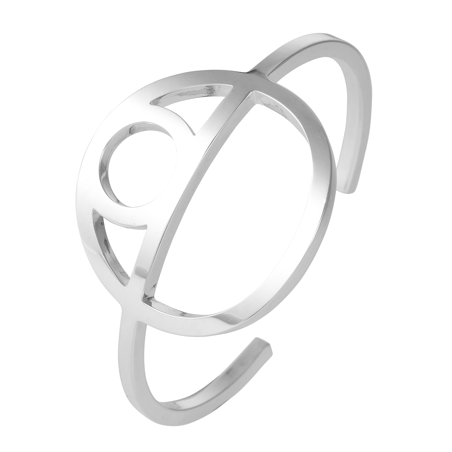 Los 347 - A CHAINE D'ANCRE GAME BRACELET, HERMES in sterling silver designed as an abstract anchor link set to