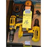 Lot - DeWalt Cordless Drills with Charger & Battery