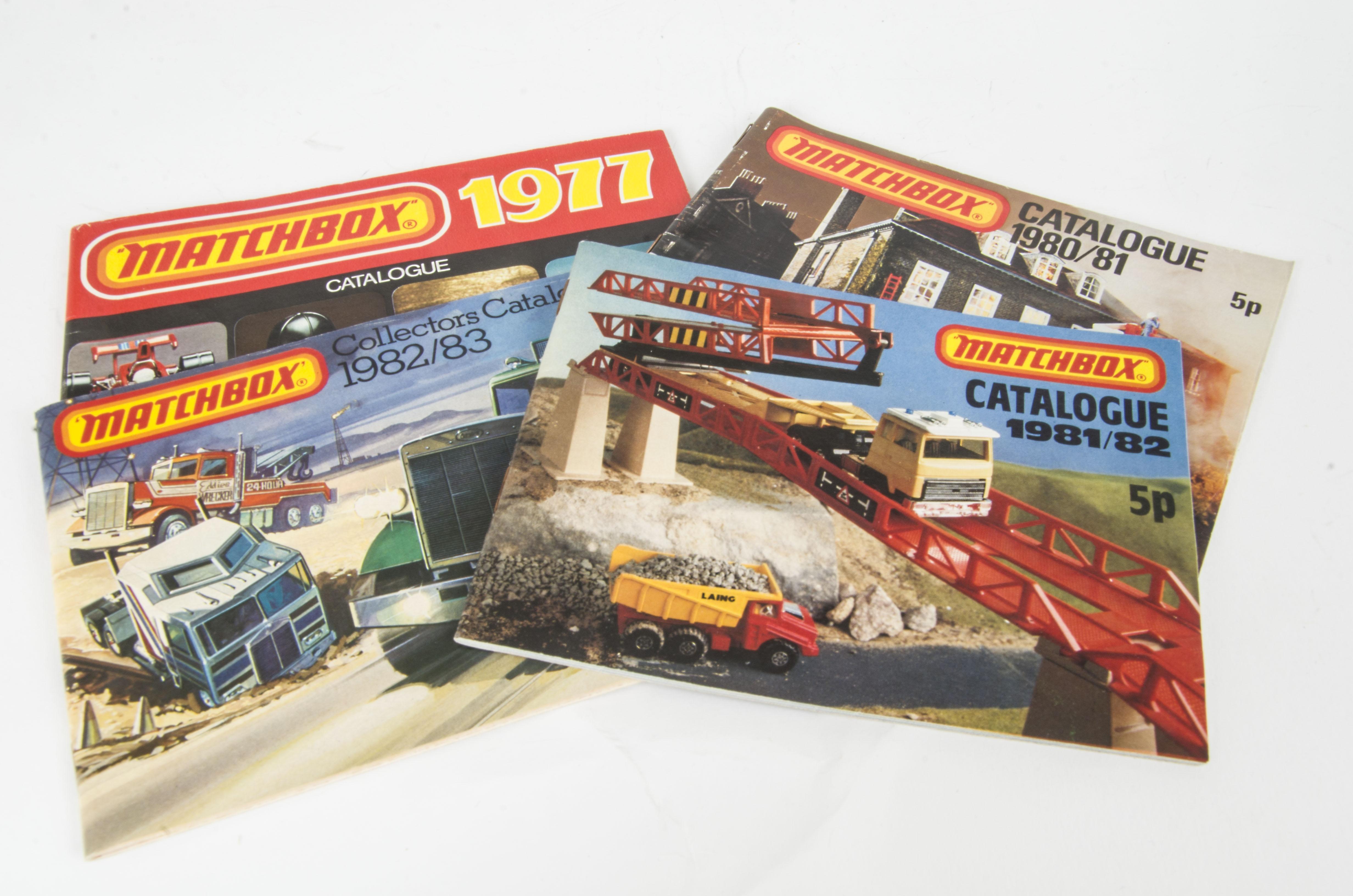 Matchbox Catalogues, 1970, 1972, 1973, 1975(2), 1976 (2), 1977, 1978