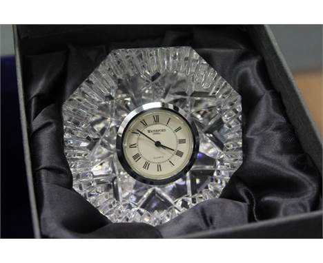 A Waterford crystal bedside clock, boxed.