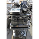 CIME two group coffee machine with bean grinder and knock out drawer heating circulation