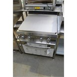 MBM EF077 (s.n 1075328) smooth top solid girddle with oven 3 phase