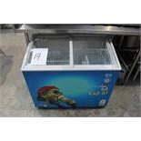 Husky HUS F28 VIS display freezer temperature range -22/-24 240 litre capacity complete with baskets