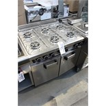 MBM G6SF972P 6 burner brand new The watertight pressed, 45mm deep, worktop is in 1.5 mm AISI 304
