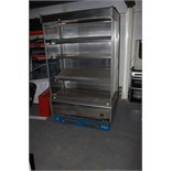 Stainless steel multi-deck display fridge four tier with night blind 1300mm x 930mm x 2000mm