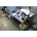 Stainless steel mobile prep table with dingle drawer and shelf 1800mm x 70mm