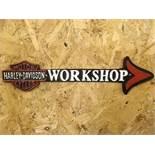 Harley Davidson Motorcycles Workshop Arrow Wall Plaque