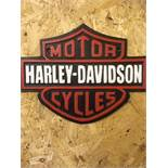 Harley Davidson Motorcycle Wall Plaque