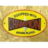 Champion 'Spark Plugs' Wall Plaque