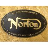 Norton Machines Oval Wall Plaque